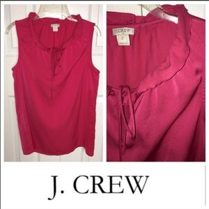 J CREW 2 Sleeveless Top w Ruffle Collar